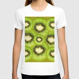 TROPICAL GREEN KIWI SLICED FRUIT MODERN ART T-shirt