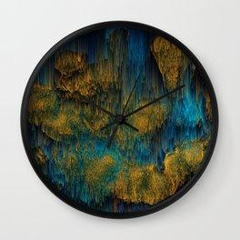 Molten - Abstract Pixel Art Wall Clock