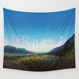 Let's Run Away: Columbia Gorge, Oregon Wall Tapestry