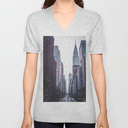 Streets of New York City Unisex V-Neck