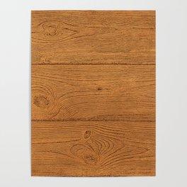 The Cabin Vintage Wood Grain Design Poster