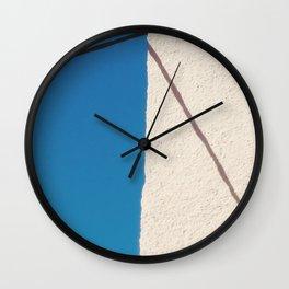 minimal santorini Wall Clock