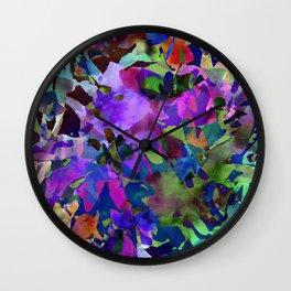 Poppy Batik Wall Clock
