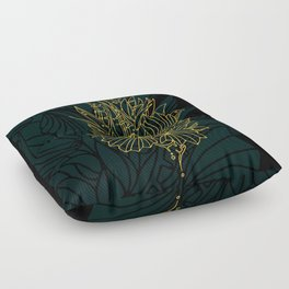 Nested in Gold Floor Pillow