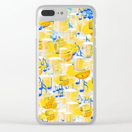 BEERS AND MUSIC EMOJIS Clear iPhone Case