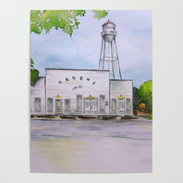 Gruene Hall - Oldest Dance Hall in Texas Poster