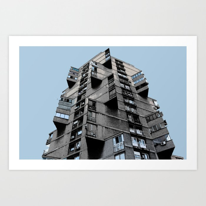 Toblerone Building in Belgrade Art Print