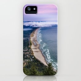A Crescent Shaped Beach From High Atop Neahkahnie Mountain in Oswald West State Park, Oregon iPhone Case