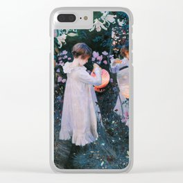 John Singer Sargent Carnation Lily Lily Rose Clear iPhone Case