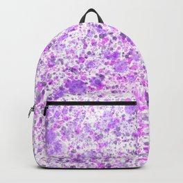Purple Splatter Paint Graphic Design Print Backpack