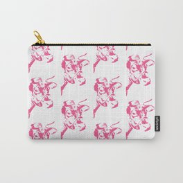 Follow the Herd Pattern - Pink #646 Carry-All Pouch