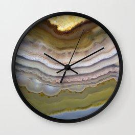 Agate Rock Slice 2019 Wall Clock