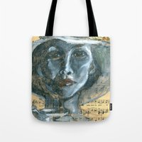 cafe Tote Bags featuring Cafe by Spinning Daydreams