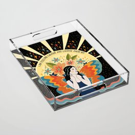 Feeling lighter and lighter Acrylic Tray