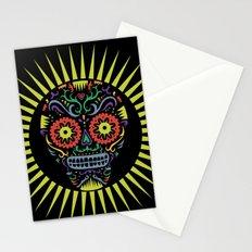 Sugar Skull SF multi -  black Stationery Cards