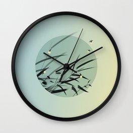 Decaying Grass Becomes Fireflies Wall Clock