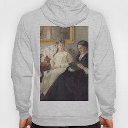 The Mother and Sister of the Artist - Marie-Joséphine & Edma by Berthe Morisot Hoody