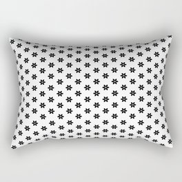 Elegant Star Pattern (Black and White) Rectangular Pillow