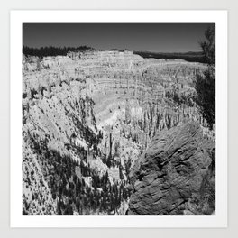Amazing Bryce Canyon View in Monochrom Art Print