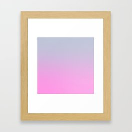UNLIKE OTHER - Minimal Plain Soft Mood Color Blend Prints Framed Art Print