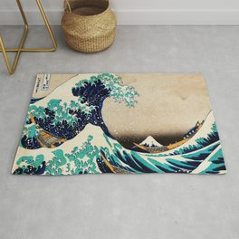 The Great Wave Off Kanagawa Traditional Japanese Landscape Rug