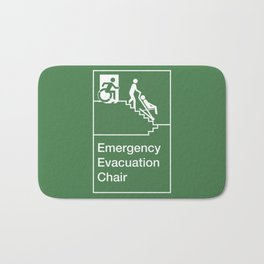 Accessible Means of Egress Icon, Emergency Evacuation Chair Sign Bath Mat