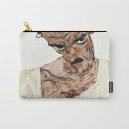 13,000px,500dpi-Egon Schiele - Self-Portrait with Lowered Head - Digital Remastered Edition Carry-All Pouch
