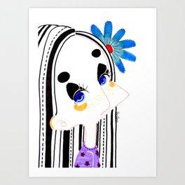 Portrait of her Art Print