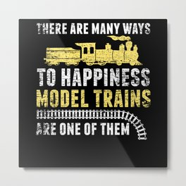 Funny Model Train Metal Print