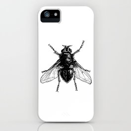 black and white fly iPhone Case