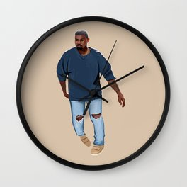 Blue Outfit Wall Clock