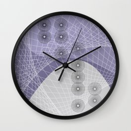 Purple Skyfall Wall Clock