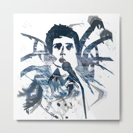 Ian Curtis - Dance Metal Print