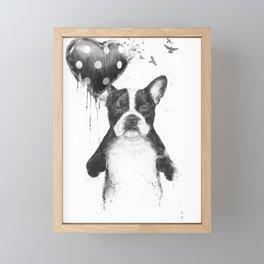 My heart goes boom Framed Mini Art Print