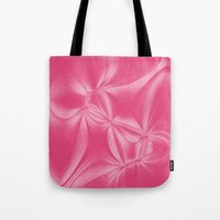 bow Tote Bags featuring Bow by AlexinaRose