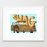 swag Framed Art Prints featuring swag  by professional doodler