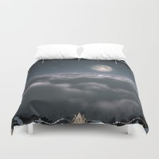 Traveling to the Moon Duvet Cover
