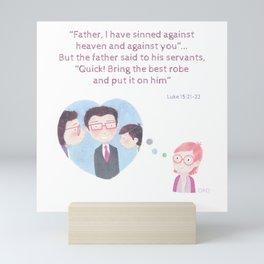 Luke 15:21-22 Mini Art Print
