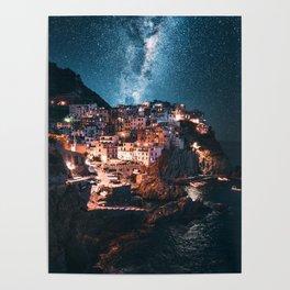 manarola at night Poster