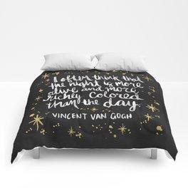 Night Owl on Gold Comforters