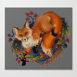 Sly Fox Spirit Animal Canvas Print