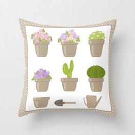 A wonderful design for those who are fond of plants , flowers . Throw Pillow