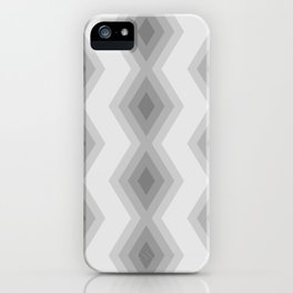 Geometric triangles grey shades pattern iPhone Case