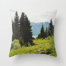 the forest and the fjords Throw Pillow