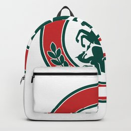 Saint George Slaying Dragon Circle Retro Backpack