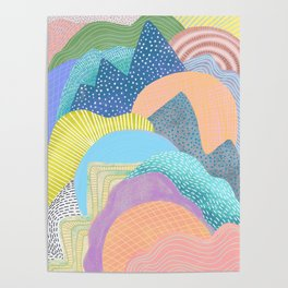 Modern Landscapes and Patterns Poster