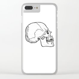 Skull 11 Clear iPhone Case