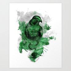 Eagle- Green Art Print