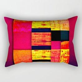 pattern black red pink orange Rectangular Pillow
