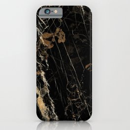 Marble Gold and Black  iPhone Case